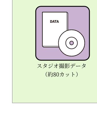 スタジオ撮影データ(約80カット)